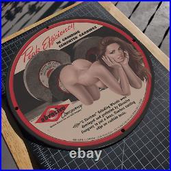 Vintage 1945 Abrasive Grinding Wheels Company Porcelain Gas & Oil Metal Sign