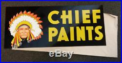 Vintage 1950-60's Chief Paints Double Sided Metal Sign NOS never hung EB1