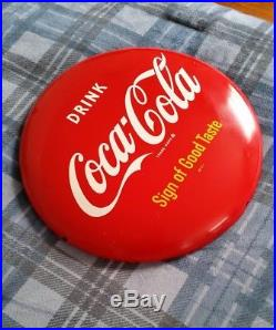 Vintage 1950's Coca Cola 12 Button Sign AM21 Metal