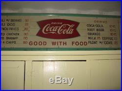 Vintage 1950's Coca Cola Fountain Service Metal 8ft Diner's
