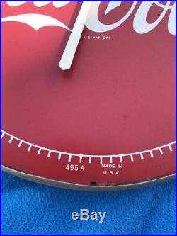 Vintage 1950's Coca Cola Soda Pop Gas Station 12 Metal Thermometer Sign 495A