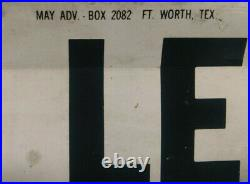 Vintage 1950's Gas Service Station Metal Sign Price Flip Numbers 0 To 9