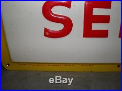Vintage 1950's Goodyear Tires 24 Hour Service Embossed Metal Sign, Real, Rare