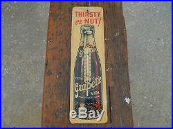 Vintage 1950's Grapette Grape Soda Embossed Metal Thermometer RARE READ
