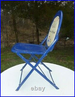 Vintage 1950's Pepsi Cola Metal Folding Chair Promotional Advertising Chair