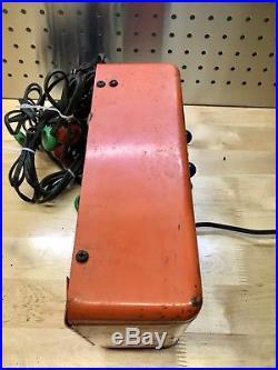 Vintage 1950s Original AC Delco Mechanic Shop Battery Charger Sign GM Chevrolet