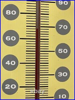 Vintage 1950s Pepsi Cola Embossed Metal Soda Pop Advertising Thermometer Sign