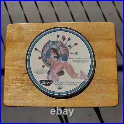 Vintage 1959 Rogers Geophysical Companies Porcelain Gas & Oil Metal Sign