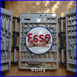 Vintage 1969 Esso'A Joy To Drive With' Porcelain Gas & Oil Metal Sign