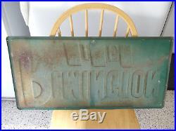 Vintage 1970's Remington Tires Gas Station/Tire shop 32 Embossed Metal Sign