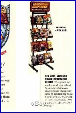 Vintage 1989 M25C M25G Metal Nintendo Power Magazine Store Display Racks Sign