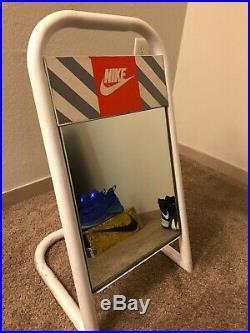 Vintage 1990s Nike METAL SHOE MIRROR DISPLAY SIGN AUTHENTIC Sales floor