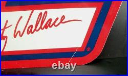 Vintage 2001 Miller LITE Rusty Wallace METAL PIT FLAG Wall Sign NASCAR 36x29