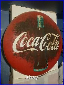 Vintage 32 metal Coke-cola Button sign