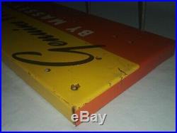 Vintage 34 Metal Sign MASSEY HARRIS Fan Belts Farm Tractor Implement Dealer