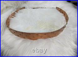 Vintage 50's 60's Ladies Belt With Chain Signed RENOIR Copper Metal Small Size Con