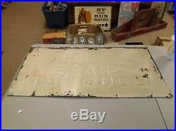 Vintage Anheuser Busch Prohibition Grape Bouquet Metal Sign BEER GAS COLA BUD
