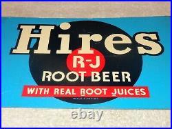 Vintage Antique Original Hires Root Beer Record 12 Metal Soda Pop Gas Oil Sign
