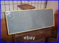 Vintage Arbuckles Roasted Coffee Embossed Metal Sign Co AAA Sign Coitsville Ohio