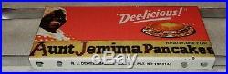 Vintage Aunt Jemima Pancakes 31 Porcelain Metal Door Push Plate Syrup Gas Sign