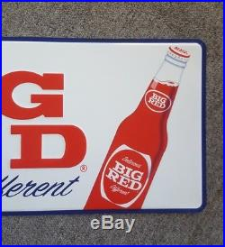 Vintage Big Red Soda Embossed Metal Sign Waco Texas TX Drink Creme