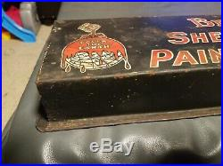 Vintage Brighten Up Sherwin-Williams Paints and Varnishes Tin Metal sign rack