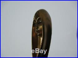 Vintage Bronze Metal Sculpture Woman Model Modernism Giovanni Schoeman Limited