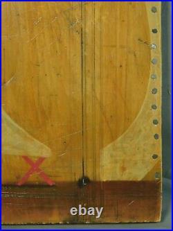 Vintage Brutalist Cubist Painting Sculpture Wood Metal D Devillier Portrait Man