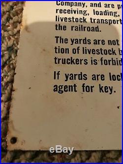 Vintage Burlington Route C B Q Railroad Train Sign Metal Rare Old Original Aged