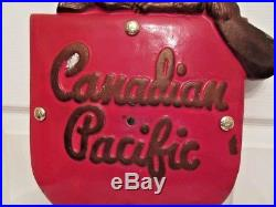 Vintage Canadian Pacific Railroad Metal Plaque Sign