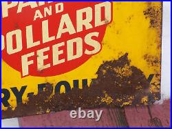 Vintage Cattle Crossing Park And Pollard Feeds Metal Sign