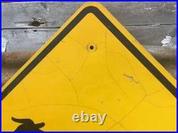 Vintage Cattle Crossing Sign Cow Metal Highway Road Sign Old Street Sign 33 Inch