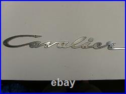 Vintage Chris Craft Cavalier Emblem Badge Script Trim Chrome Sign Metal Boat Hot
