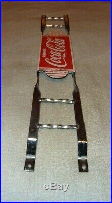 Vintage Coca Cola 31 Porcelain Metal Door Push Plate Soda Pop Gasoline Oil Sign