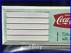 Vintage Coca Cola Menu Board Metal Sign Diner Restaurant Food Fishtail Coke Soda
