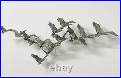 Vintage Curtis Jere Birds In Flight Aluminum 3D Hanging Wall Sculpture 52 HTF