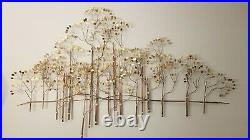 Vintage Curtis Jere The Elms Large Metal Tree Wall Sculpture 54w x 32h