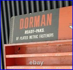 Vintage DORMAN Automotive Metal Wall Shelf Cabinet Store Sign Counter Display