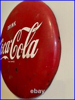 Vintage DRINK COCA-COLA 16 Metal Button In Original Condition, Advertising