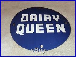 Vintage Dairy Queen Ice Cream Cone Fast Food Restaurant 10 Porcelain Metal Sign