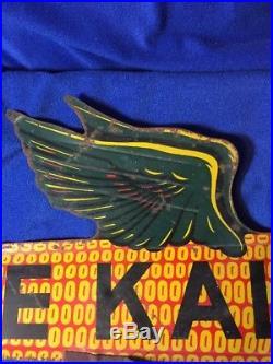 Vintage DeKalb Seed Corn Weathervane Flying Ear 2 Sided 18 Metal Sign WithMount