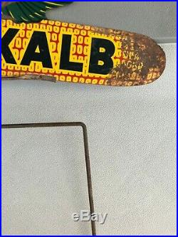 Vintage Dekalb Weather Vane Seed Corn Two Sided Flying Ear Corn Farm Metal Sign