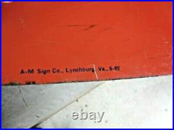 Vintage Doughboy Feeds 1962 Metal Sign 60 X 28 A. M. Sign Co. Lynchburg Va 6-62