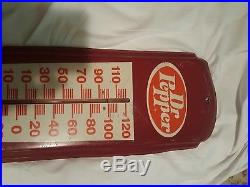 Vintage Dr Pepper Drink Soda Pop Cola Advertising Metal Thermometer Sign Rare