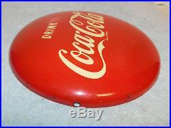 Vintage Drink Coca Cola Coke Metal Button 12 Soda Sign AM 8-52 1952