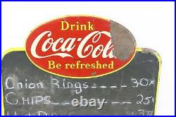 Vintage Drink Coca Cola Metal Menu Board Restaurant ChalkBoard Sign Advertising