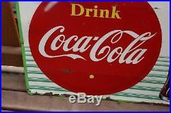 Vintage Drink Ice Cold Coca Cola Coke Soda Pop Drink Metal Sign
