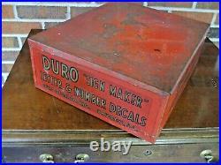 Vintage Duro Waterslide Decal Letter& Number Sign Maker Metal Store Display Box