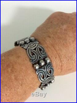 Vintage EMMA MELENDEZ Taxco Sterling Silver Link Bracelet Signed