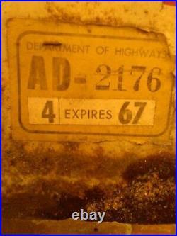 Vintage Early Grain Belt Beer Large Diamond Tin Metal Sign Hwy Dept 1967 2 Piece
